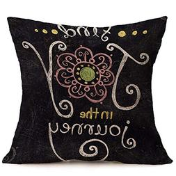 Sunhusing Thanksgiving Day Happy Soft Cotton Linen Pillow Ca