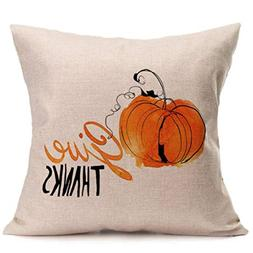 Sunhusing Thanksgiving Day Soft Linen Hug Pillowcase Cushion