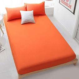 TOPmountain Pure Color Bed Cover Keep Cleaning Sheet Elastic
