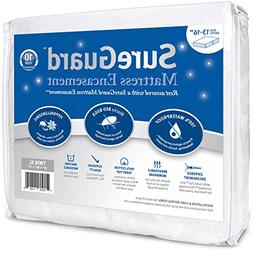 Twin XL  SureGuard Mattress Encasement - 100% Waterproof, Be