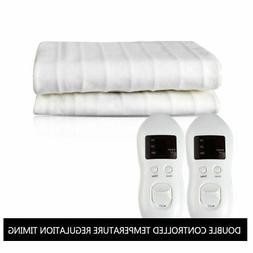 Twin /Queen /King Electric Heated Mattress Pad w/ Temperatur