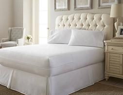 Simply Soft Bed Bug Mattress Protector, Full, White