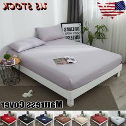 US Protector Elastic Pure Waterproof Cotton Mattress Cover B