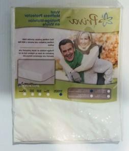 "PRIVA VINYL MATTRESS PROTECTOR ZIPPERED 7"" DEEP SIZE HOSPITA"