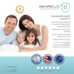 Washable Waterproof Mattress Sheet Protector Bed Underpad -