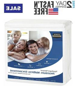 Utopia Waterproof Bedding Encasement Cover Zippered Mattress