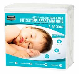 Waterproof Crib Mattress Protector Cover Hypoallergenic Quil