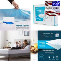 Lucid Waterproof Deep Pocket Twin Bed Bamboo Mattress Protec