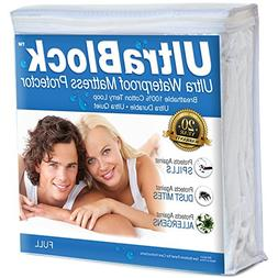 UltraBlock Full Size Waterproof Mattress Protector - Premium