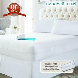 Waterproof Mattress Protector Cover Encasement Zippered Bed