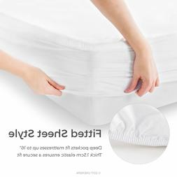 Waterproof Mattress Protector Queen Size Matress Bed Cover D