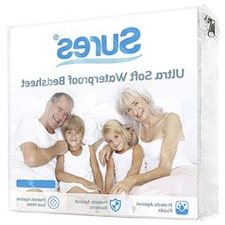 Sures Waterproof Mattress Protector - Queen Size Bedsheet -
