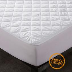Waterproof Quilted Mattress Cover Pad Bed Bug Dust Mite Hypo
