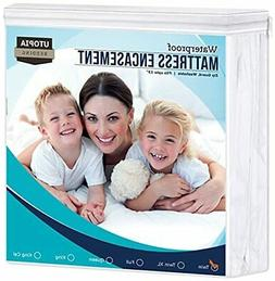 Waterproof Zippered Mattress Encasement Cover  Bed Bug Proof