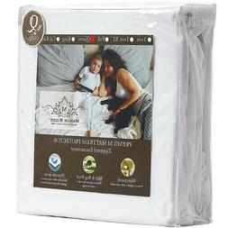 Waterproof Zippered Mattress Protector 100% Microfiber Fully
