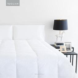 MALOUF Woven White Down Feather Blend Comforter - Cal King
