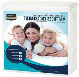 KING Zippered Mattress Encasement Waterproof Mattress Protec